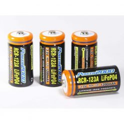 Power2000 CR-123A LifePO4 Rechargeable Batteries 4 Pack