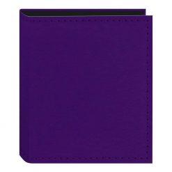 Pioneer Sewn Leatherette Photo Album 40 Pockets Hold Fujifilm Instax and Polaroid Credit Card Size Instant Prints or Name Cards, Purple