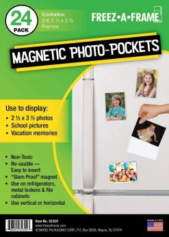 "Freez-A-Frame Clear Magnetic Photo Frames 2.5 "" x 3.5"" (Pack of 24)"