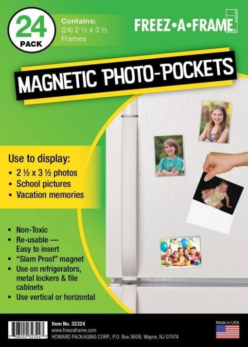 "Freez-A-Frame Clear Magnetic Photo Frames 2.5 "" x 3.5″ (Pack of 24)"