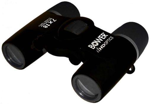 Bower BRI718B Waterproof Compact 7×18 Binocular – Black