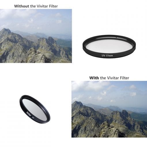 Vivitar 77mm 1-Piece Camera Lens UV Filter