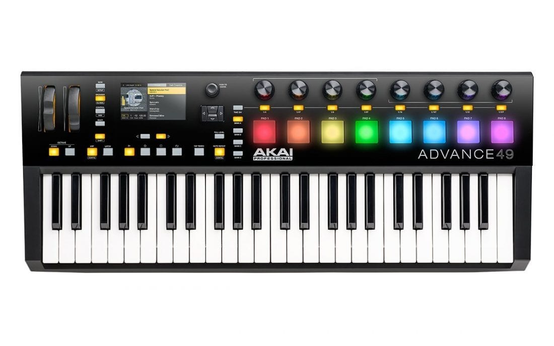 Photo4Less | Akai Professional Advance 49 | 49-Key Virtual Instrument  Production Controller with Full-Color LCD Screen & 10K Sounds Download