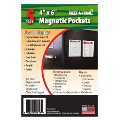 Freez A Frame CLEAR MAGNETIC POCKETS - 4' x 6 5 PACKS