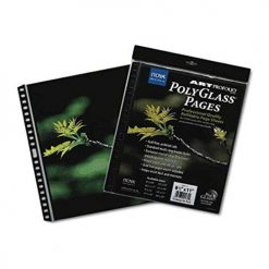 Itoya Art Profolio 14 x 17 Crystal Clear PolyGlass Pages, 10 Pages Per Pack PR-14-17