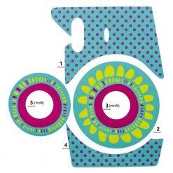Xit Camera Sticker For Fuji Instax Mini Cameras Turquoise XIFUSKTQ