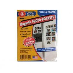 Freez-A-Frame Magnetic Photo Pocket 2.5 x 3 .5 (Wallet size) 3 Pack (33325)