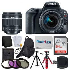 Canon EOS Rebel SL2 Digital SLR Camera + EF-S 18-55mm f/4-5.6 IS STM Lens Deluxe Bundle