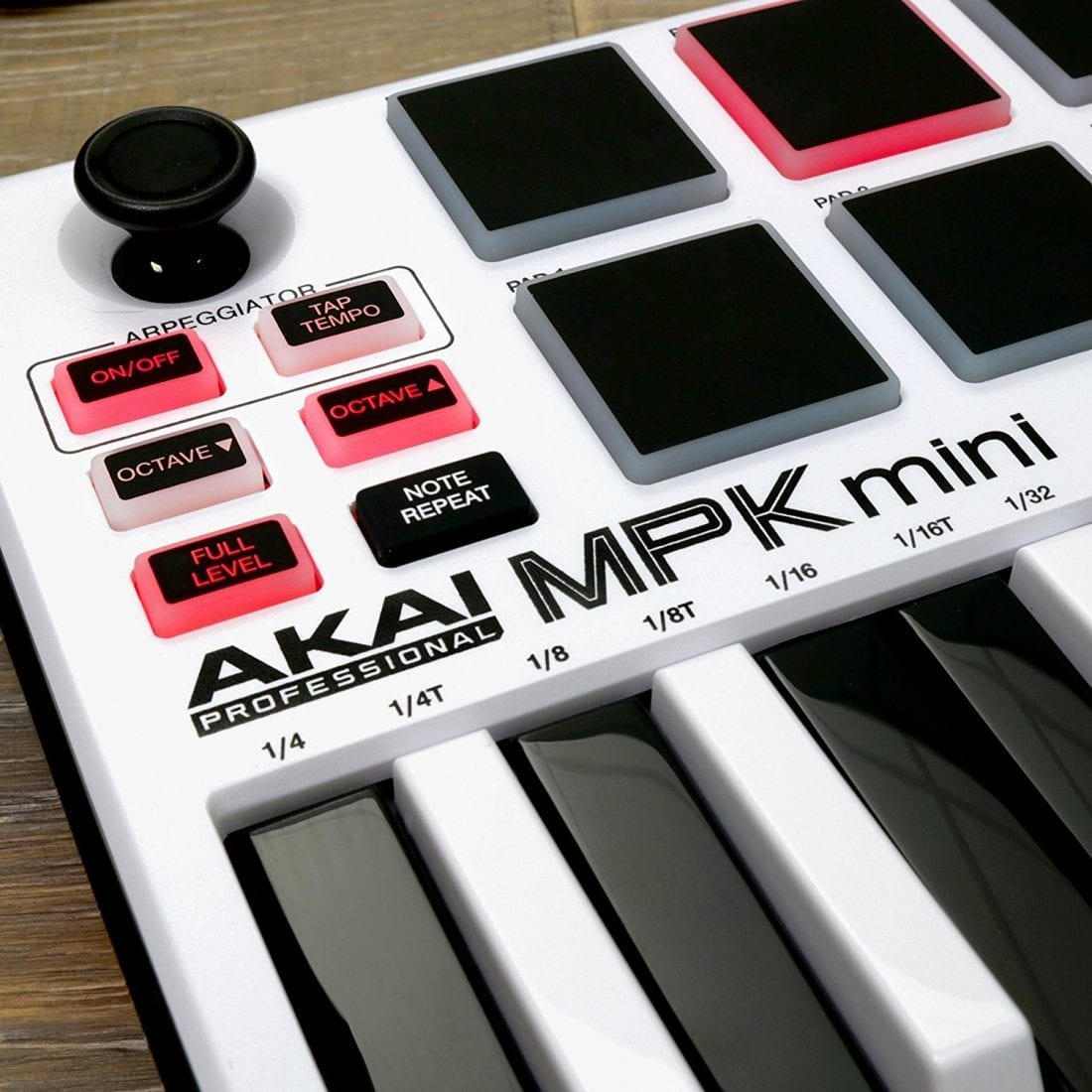 Photo4Less | Akai Professional MPK Mini MKII White | 25-Key Ultra-Portable  USB MIDI Drum Pad & Keyboard Controller with Joystick, VIP Software
