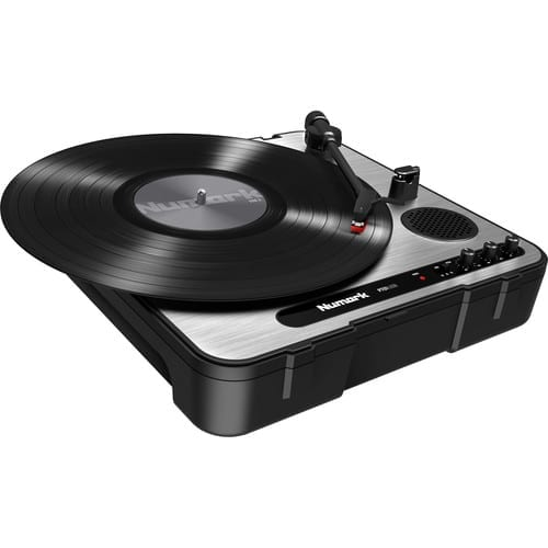 Numark PT01 USB |Portable Vinyl-Archiving Turntable for 33 1/3, 45, & 78 RPM Records