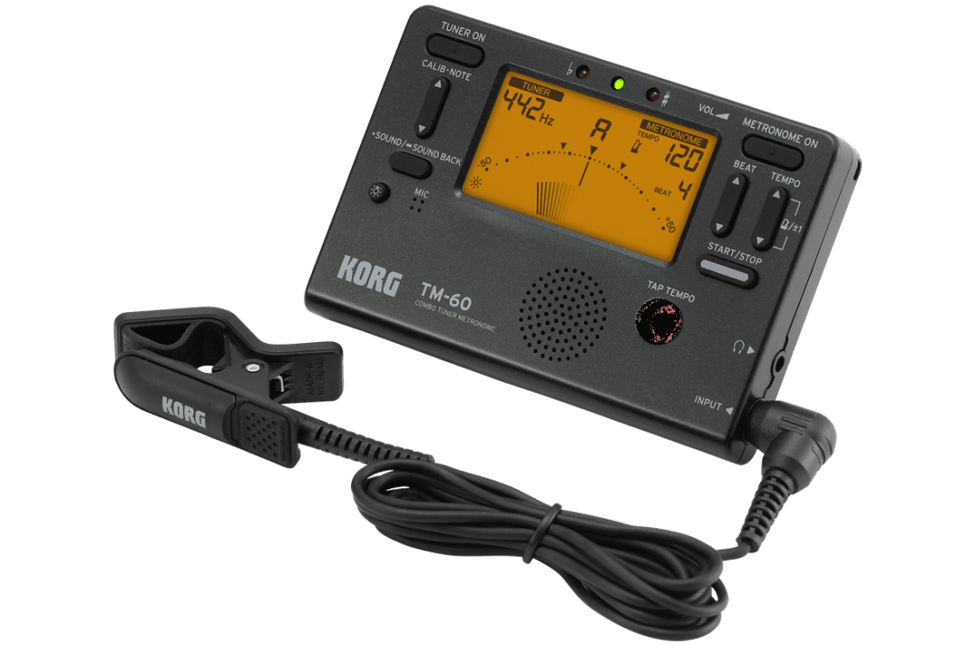 Korg TM60 Combo Tuner /Metronome Black With Contact Mic