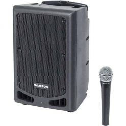 "Samson XP108W-06 Portable PA - 8"" 200 watts with Bluetooth, Wireless HH mic (rechargeable battery)192.6 MHz"