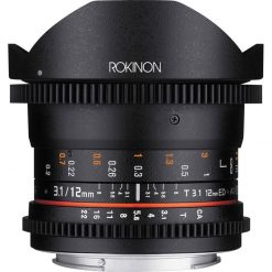 Rokinon Cine DS 12mm T3.1 Ultra Wide Cine Fisheye Lens for Canon EOS EF DSLR Cameras - Full Frame Compatible