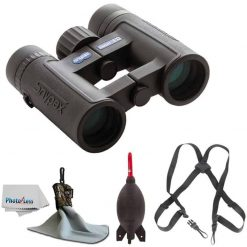 SNYPEX 10x32 Knight ED Water Proof Roof Prism Binocular With Case + Harness + Rocket Air Dust Blaster + Microfiber Spudz Cloth & Cleaning Cloth