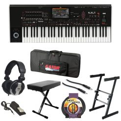 Korg PA4X61 61 Keys Professional Arranger Keyboard + Top Value Bundle