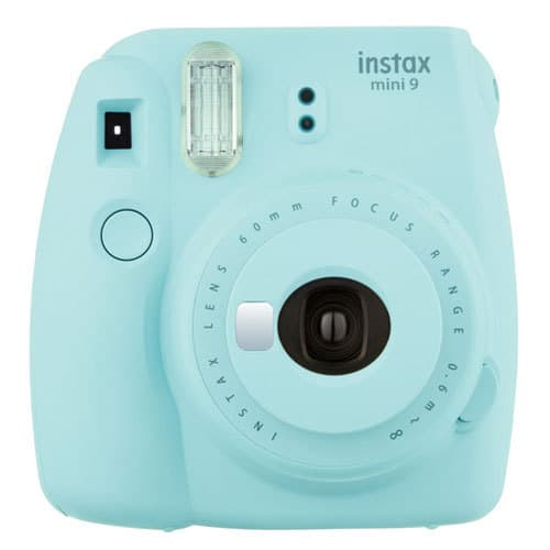 Fujifilm instax mini 9 Instant Film Camera (Ice Blue) + Fujifilm Instax Mini Twin Pack Film (20 Shots) - Deluxe Valued Bundle - International Version (No Warranty)