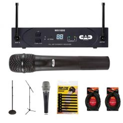 Cad Audio WX1600 UHF Wireless Cardioid Dynamic Handheld Microphone System G Frequency Band