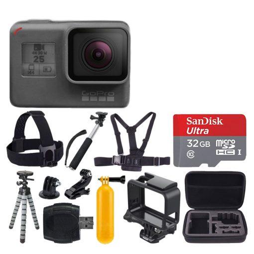 GoPro HERO5 Black + Many Accessories + Great Value Bundle