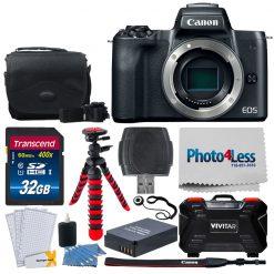 Canon EOS M50 Mirrorless Camera Body w/ 4K Video (Black)