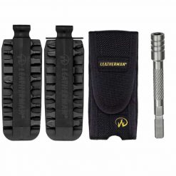 Leatherman Nylon Sheath For Charge, Wave, Blast, Crunch, Fuse With 42 Piece Bit Kit + Bit Driver Extension