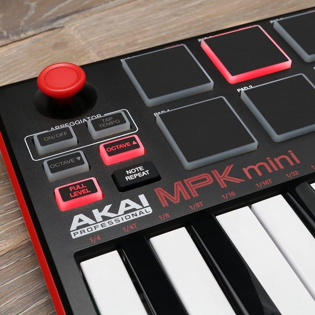 Akai Professional MPK Mini MKII   25-Key Ultra-Portable USB MIDI Drum Pad &  Keyboard Controller with Joystick, VIP Software Download Included