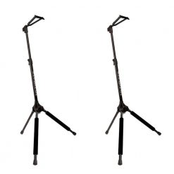 Ultimate Support GS-100 Genesis Series Guitar Stand with Locking Legs and Self-closing Yoke Security Gate