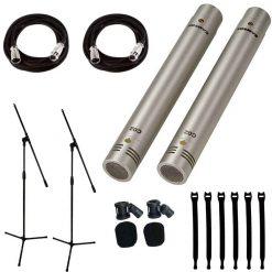 Samson C02 Pencil Condenser Mics - SuperCardioid (Pair)