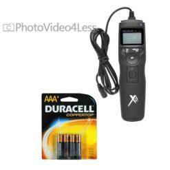 Universal LCD Shutter Release Timer Remote Control + 4 AAA battery For Nikon D3200 D3100 D5200 D5100 D5300 D7100 D7000 D90 D1X D700 D800 D600 Digital SLR Camera
