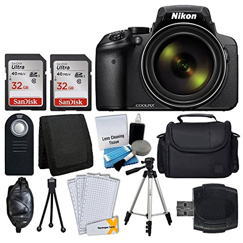 f4da5a43b Nikon COOLPIX P900 Digital Camera + Transcend 2x 32GB Memory Card(64GB) +  Wireless