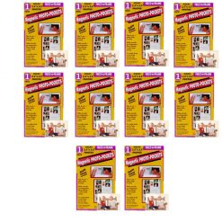 """Clear Magnetic Picture Frames for Refrigerator, 2.5"""" x 3.5"""" (Wallet size) Pack of 10, Freez-A-Frame"""