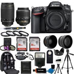 Nikon D7200 DSLR Camera + 18-55mm VR NIKKOR Lens + All U Need Accessory Bundle
