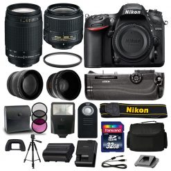 Nikon D7200 DSLR Camera 4 Lens Kit: 18-55mm VR +70-300 +Battery Grip Great Value