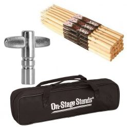 On Stage Maple 5B Nylon Tip Drumsticks 12 Pairs