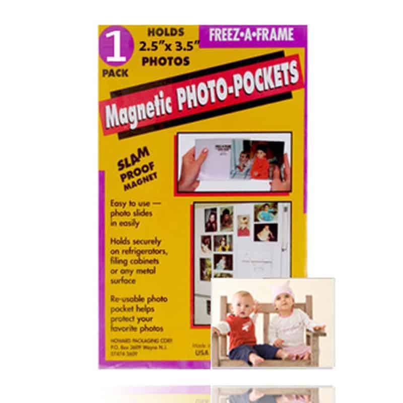 Pack of 100! Freez-A-Frame Magnetic Photo Pocket 2.5 x 3 .5 (Wallet size)