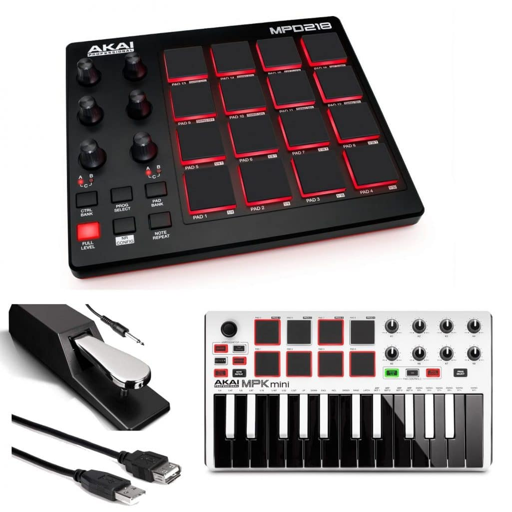 photo4less akai professional mpd218 midi drum pad controller with software download package. Black Bedroom Furniture Sets. Home Design Ideas