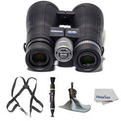 SNYPEX Optics Knight 8x50 D-ED Tactical Binoculars + Cam Harness, Black Webbing + Complete Accessory Bundle