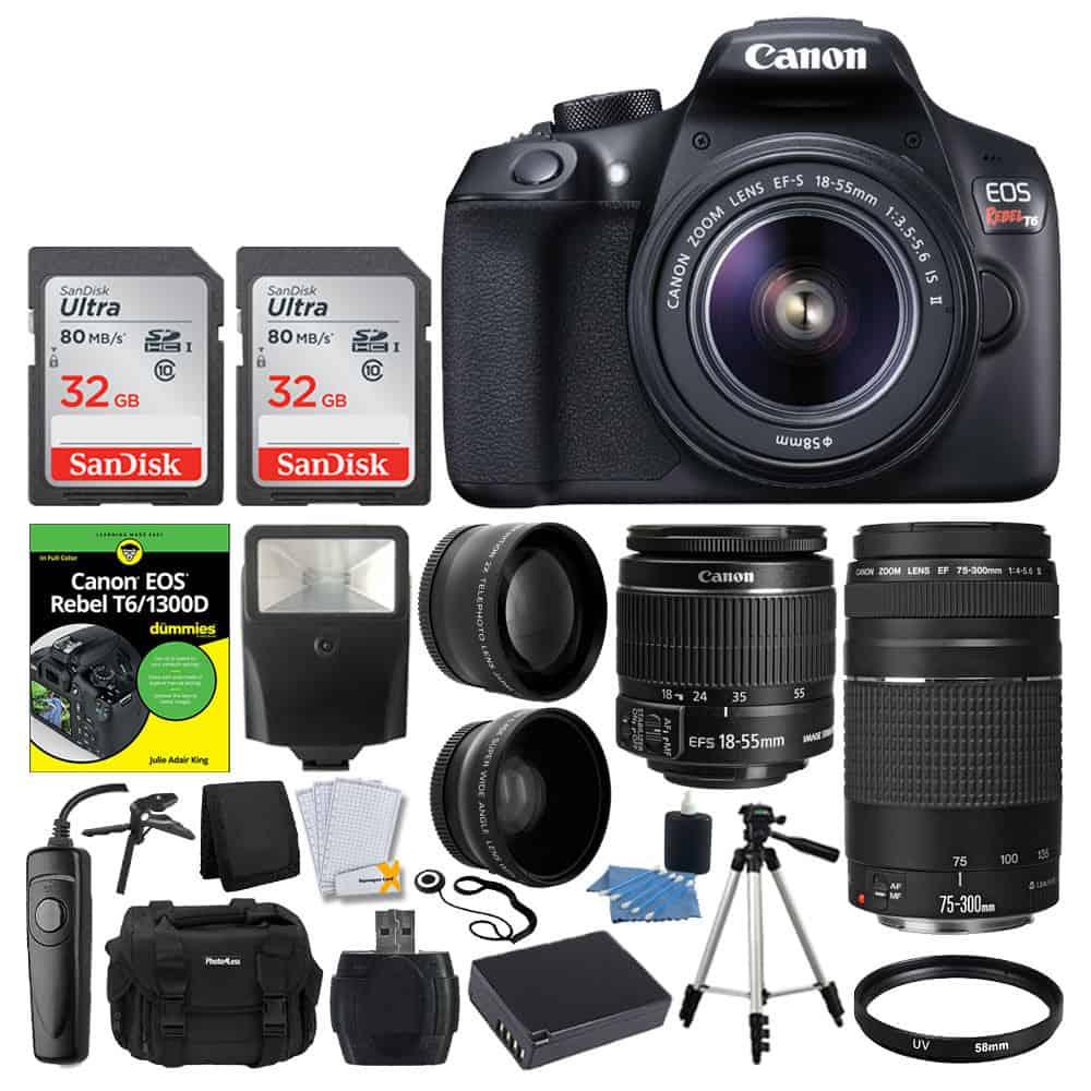 Photo4less Canon Eos Rebel Dslr T6 Camera Body 18 55mm Ef Kamera 1300d 55 Iii S Is
