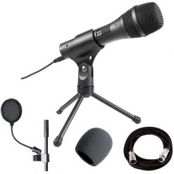 Audio-Technica AT2005USB Dynamic Handheld Microphone with Digital(USB) and Analog (XLR) Outputs