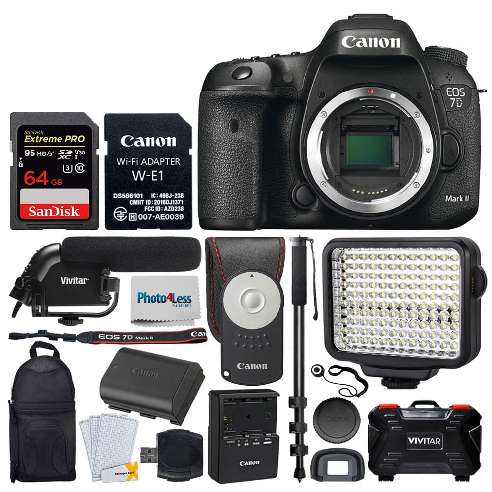 Canon EOS 7D Mark II DSLR Camera Body With W