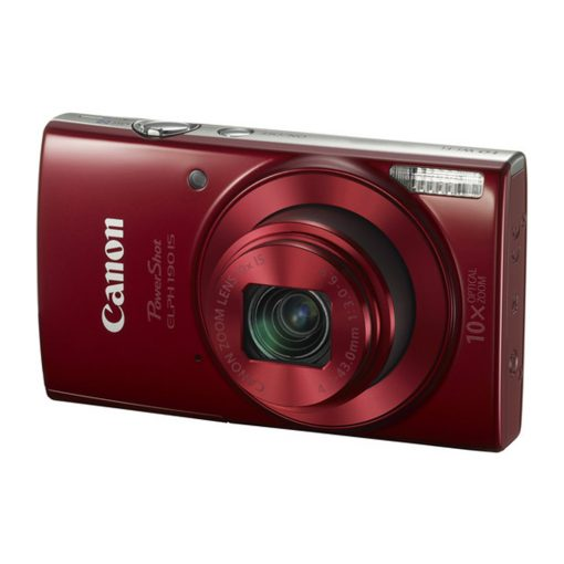 Canon PowerShot ELPH 190 IS Digital Camera (Red) - Great Value Accessory Bundle