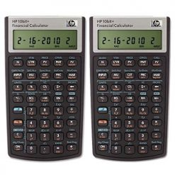 HP 10bII+ Financial Calculator (NW239AA) Pack of 2