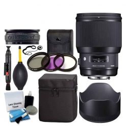 Sigma 85mm f/1.4 DG HSM Art Lens for Nikon F + 3 Piece UV Filter 86mm + Lens Case + Lens Hood + Lens Band + 5 Piece Cleaning Kit + Dust Blower + Cleaning Pen + Ultimate Lens Accessory Bundle
