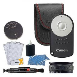 Canon RC-6 Wireless Camera Remote Control + Lens Band + Screen Protectors + Cleaning Pen + 3 Piece Cleaning Kit + For Canon Rebel SL1 T3i T4i T5i T6i T6s EOS 60D 70D 6D 7D Mark II 5D Mark III