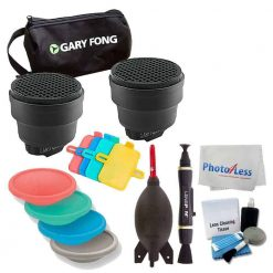 Gary Fong SSNOOT-KIT Dramatic Lighting Kit + Gary Fong DOM2 Dome Kit (Red/Green/Blue/Gray) + Giottos AA1900 Rocket Air Blaster + 5 Piece Cleaning Kit + Cleaning Pen & Cloth + Valued Accessory Bundle