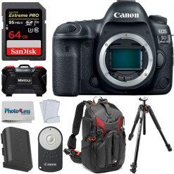 Canon EOS 5D Mark IV DSLR Camera Body + Deluxe Bundle Kit