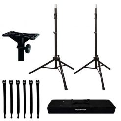 Ultimate Support TS-100B Lift-assist Aluminum Tripod Speaker Stand with Integrated Speaker Adapter