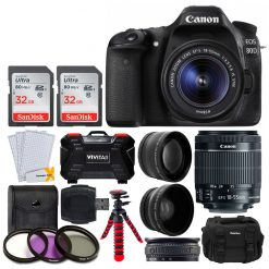 Canon EOS 80D DSLR with EF-S 18-55mm f/3.5-5.6 IS STM Lens Camera Bundle