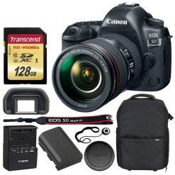 Canon EOS 5D Mark IV DSLR Camera + EF 24-105mm f/4L IS II USM Lens + Accessories