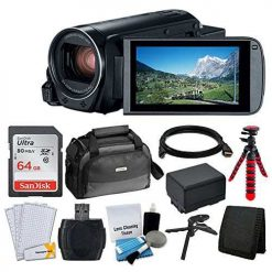 Canon VIXIA HF R80 Camcorder + Canon SC-A80 Soft Case + 64GB Memory Card + Extra BP-727 Battery Pack + Flexible, Wrappable Tripod + USB Card Reader + Screen Protectors - Valued Accessory Bundle