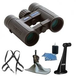 SNYPEX 8x32 HD Profinder Binocular + Snypex Binocular Tripod Adapter + OP/TECH USA Bino/Cam Harness Binocular or Camera Strap + Spudz Ultra Microfiber Cloth + 3 Piece Cleaning Kit - Accessory Bundle